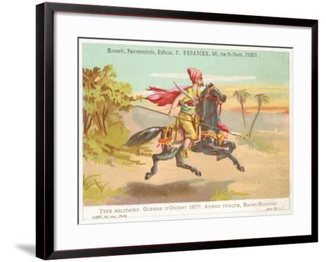 Turkish Bashi-Bazouk, Russo-Turkish War, 1877--Framed Art Print