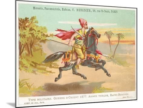 Turkish Bashi-Bazouk, Russo-Turkish War, 1877--Mounted Giclee Print