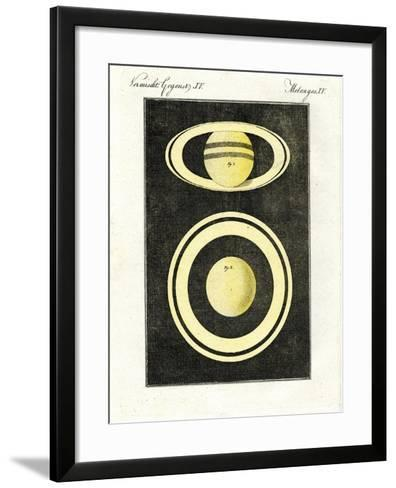 The Planet Saturn and its System of Rings--Framed Art Print