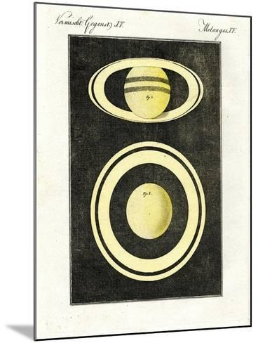 The Planet Saturn and its System of Rings--Mounted Giclee Print