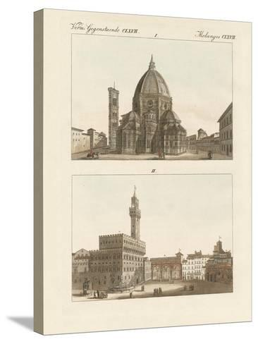 Strange Buildings in Florence--Stretched Canvas Print