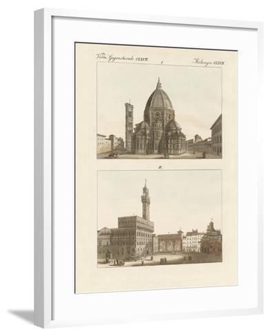 Strange Buildings in Florence--Framed Art Print