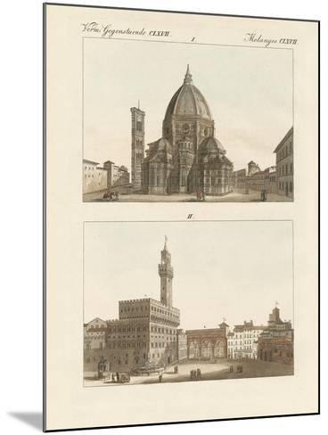 Strange Buildings in Florence--Mounted Giclee Print