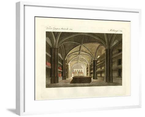 The King's Crypt of Windsor--Framed Art Print