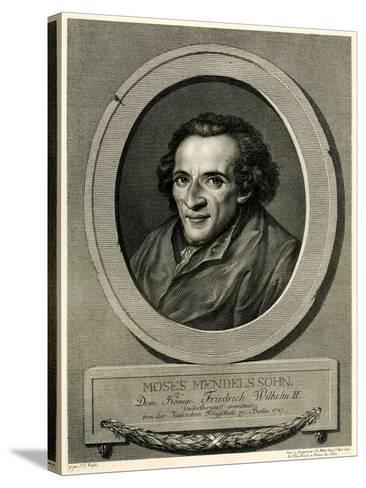 Moses Mendelssohn, 1884-90--Stretched Canvas Print