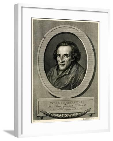 Moses Mendelssohn, 1884-90--Framed Art Print