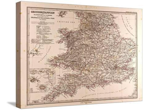 Map of Great Britain, 1872--Stretched Canvas Print