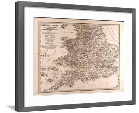 Map of Great Britain, 1872--Framed Art Print
