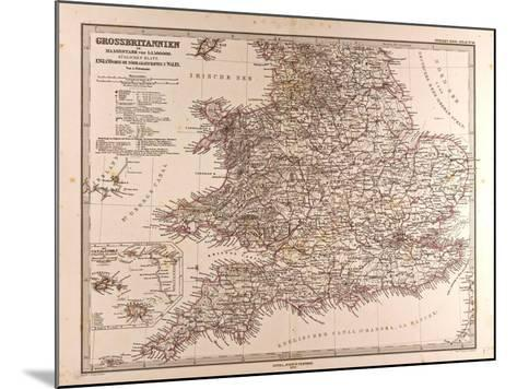 Map of Great Britain, 1872--Mounted Giclee Print
