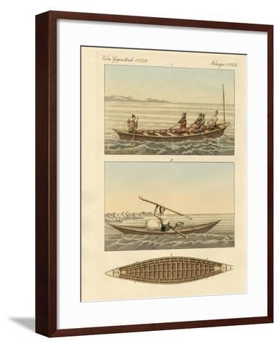 Boats of the Greenlanders--Framed Art Print