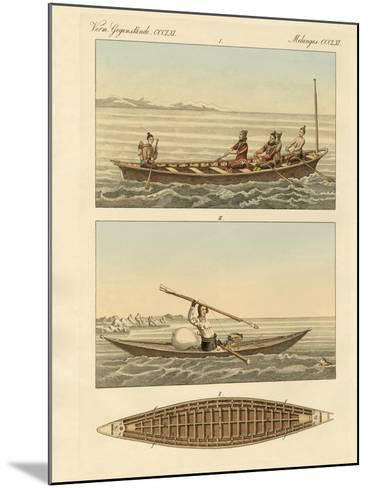 Boats of the Greenlanders--Mounted Giclee Print