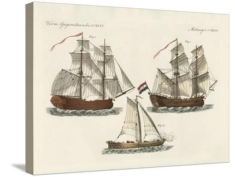 Warships of Different Kinds--Stretched Canvas Print