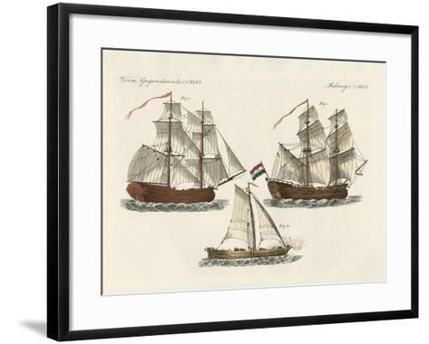 Warships of Different Kinds--Framed Art Print