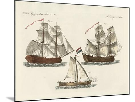 Warships of Different Kinds--Mounted Giclee Print