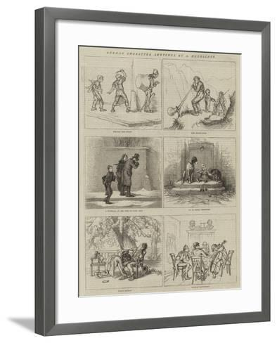 German Character Sketches--Framed Art Print