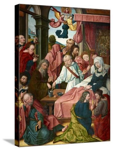 Death of the Virgin, Lower Rhine, C.1520--Stretched Canvas Print