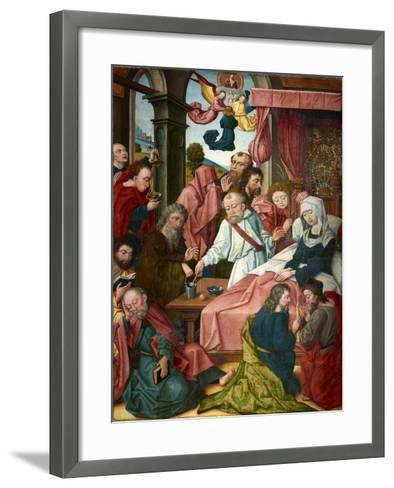 Death of the Virgin, Lower Rhine, C.1520--Framed Art Print
