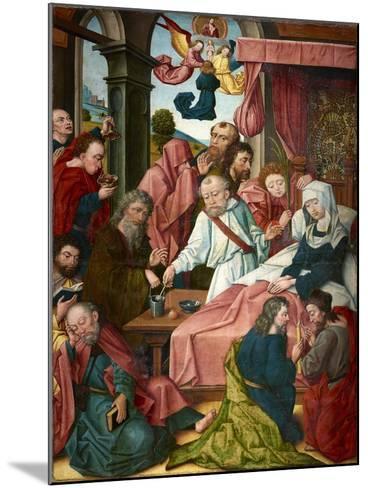 Death of the Virgin, Lower Rhine, C.1520--Mounted Giclee Print