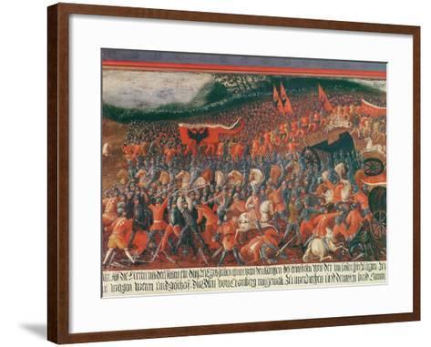 Battle of Kronenberg, Germany in C.1388--Framed Art Print