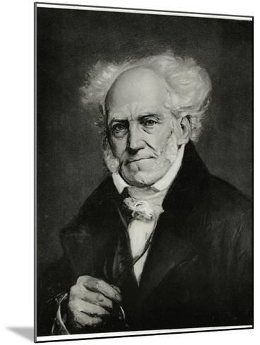 Arthur Schopenhauer, 1884-90--Mounted Giclee Print