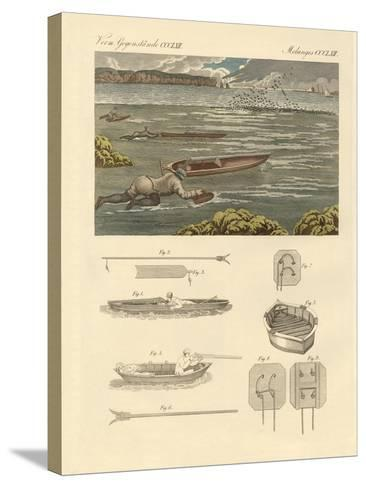 The Hunting of Waterbirds on the Coasts of England--Stretched Canvas Print