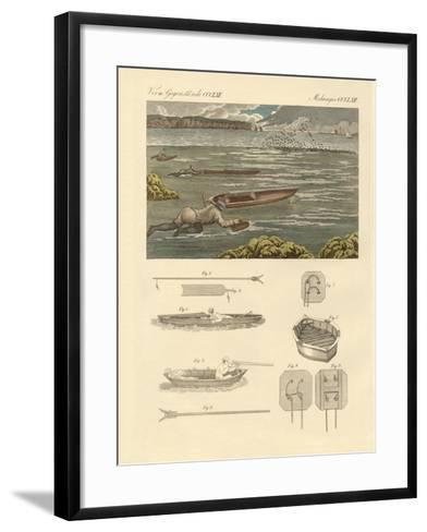 The Hunting of Waterbirds on the Coasts of England--Framed Art Print