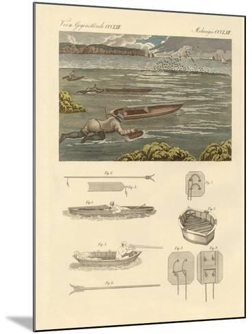 The Hunting of Waterbirds on the Coasts of England--Mounted Giclee Print