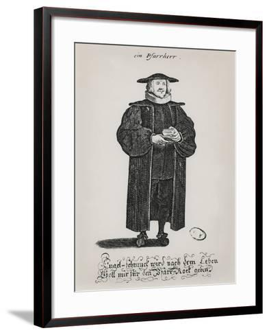 A Protestant Pastor at the End of the 17th Century--Framed Art Print