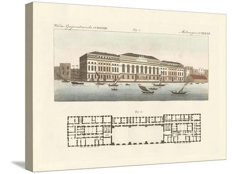 The New Customs House in London--Stretched Canvas Print