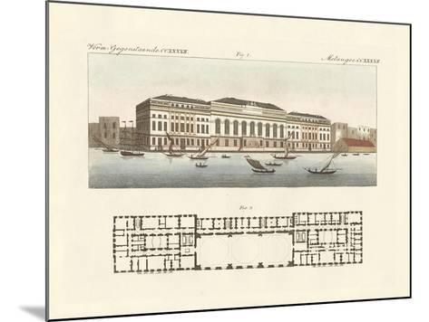The New Customs House in London--Mounted Giclee Print