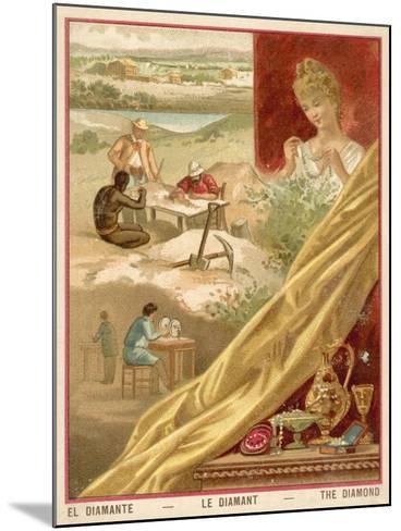 Diamonds--Mounted Giclee Print