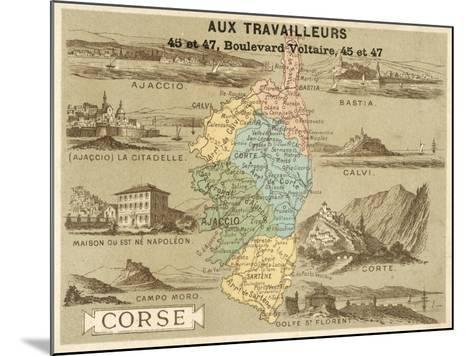 Corsica--Mounted Giclee Print