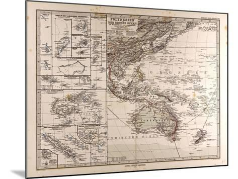 Map of Polynesia and Oceania, 1872--Mounted Giclee Print