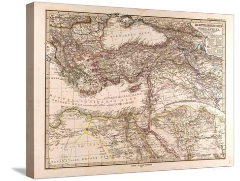 Map of the Mediterranean Sea, 1872--Stretched Canvas Print