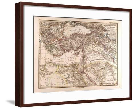 Map of the Mediterranean Sea, 1872--Framed Art Print