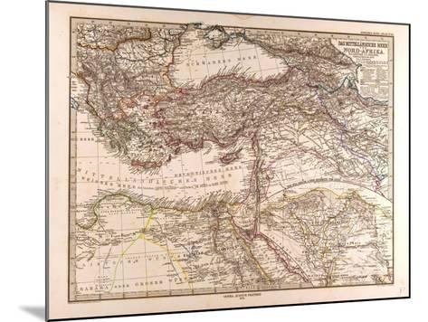 Map of the Mediterranean Sea, 1872--Mounted Giclee Print