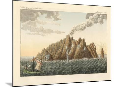 The Volcanic Island of Holy John the Theologian--Mounted Giclee Print