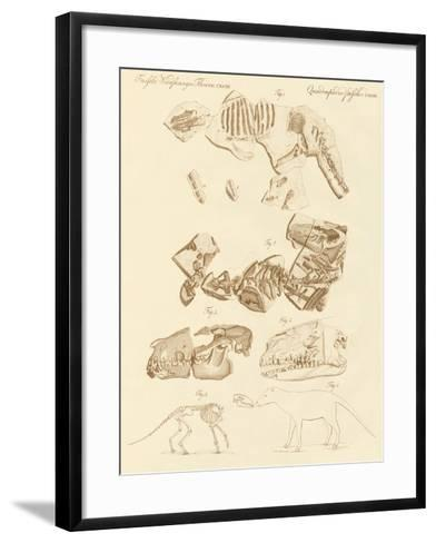 Strange Fossils of Four-Footed Animals--Framed Art Print