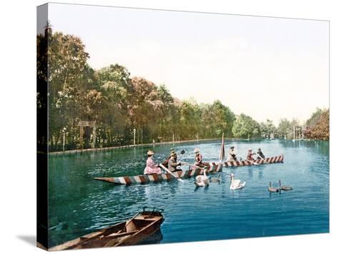 Lake at Franzenbad, Bohemia, Pub. C.1900--Stretched Canvas Print