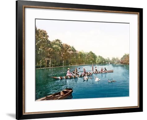 Lake at Franzenbad, Bohemia, Pub. C.1900--Framed Art Print