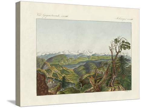 Two Views of the Himalayas--Stretched Canvas Print