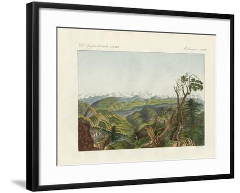 Two Views of the Himalayas--Framed Art Print
