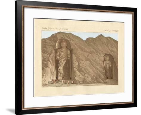 The Colossal Graven Images and the Cave-City Bameean in Cabool--Framed Art Print