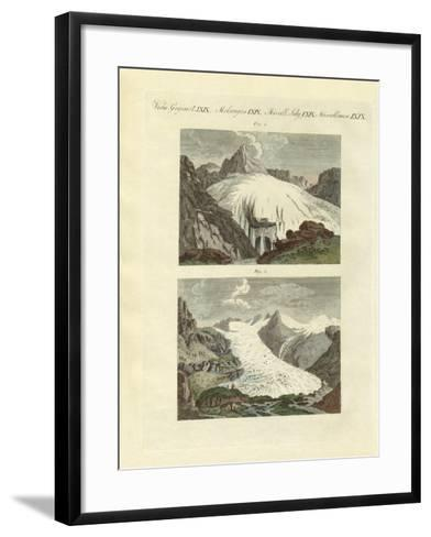 Strange Glaciers as the Birth of Large Rivers--Framed Art Print