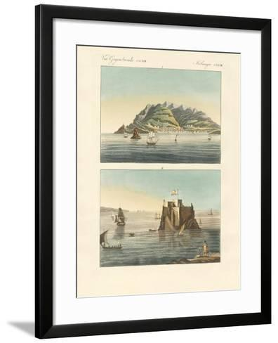 The City of Funchal and Fort Loo of the Island of Madeira--Framed Art Print
