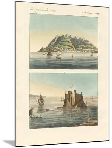 The City of Funchal and Fort Loo of the Island of Madeira--Mounted Giclee Print