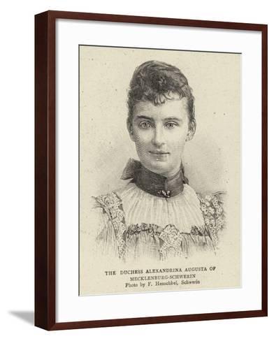 The Duchess Alexandrina Augusta of Mecklenburg-Schwerin--Framed Art Print