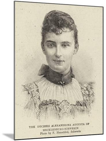 The Duchess Alexandrina Augusta of Mecklenburg-Schwerin--Mounted Giclee Print