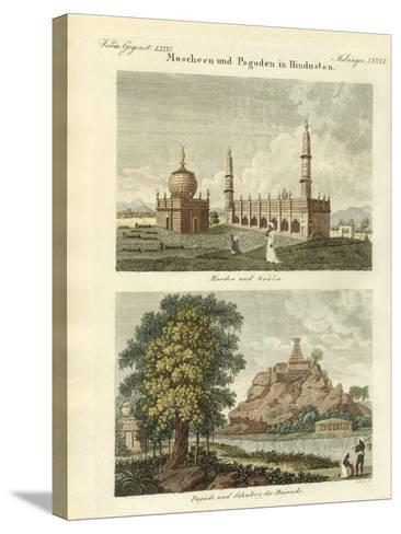 Mosques and Pagodas in Hindustan--Stretched Canvas Print