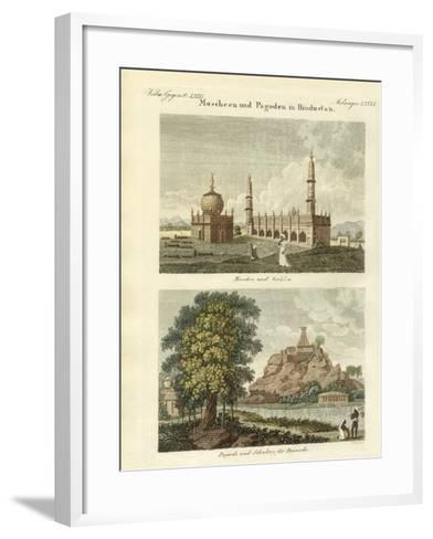 Mosques and Pagodas in Hindustan--Framed Art Print